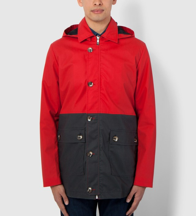 Navy/Red Mondrian Block Jacket