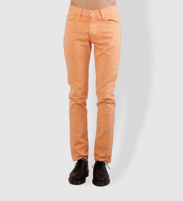 Yellowish Apricot Prism Jeans