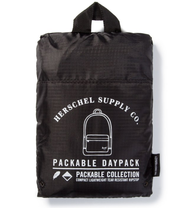Black Packable Daypack