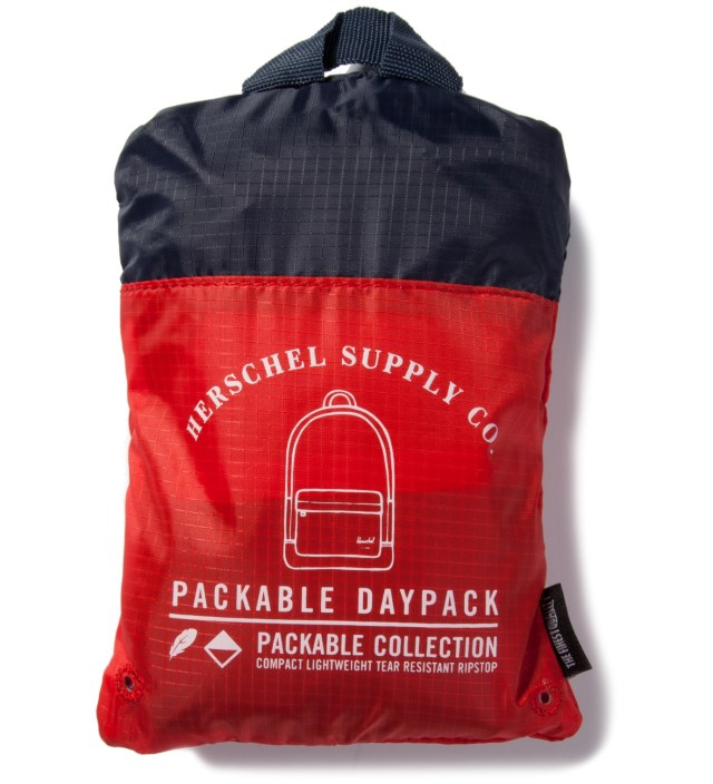 Navy/Red Packable Daypack