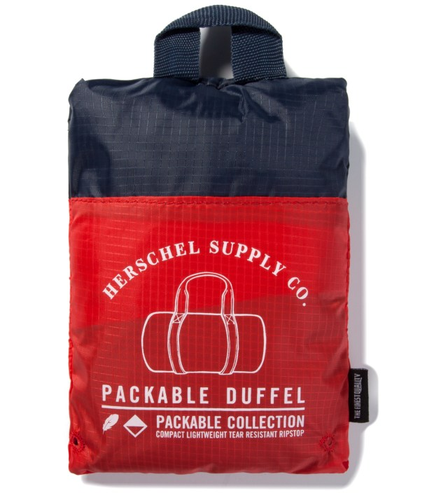 Navy/Red Packable Duffle Bag