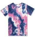 Blue/Purple Tie-dye Low Crewneck T-Shirt