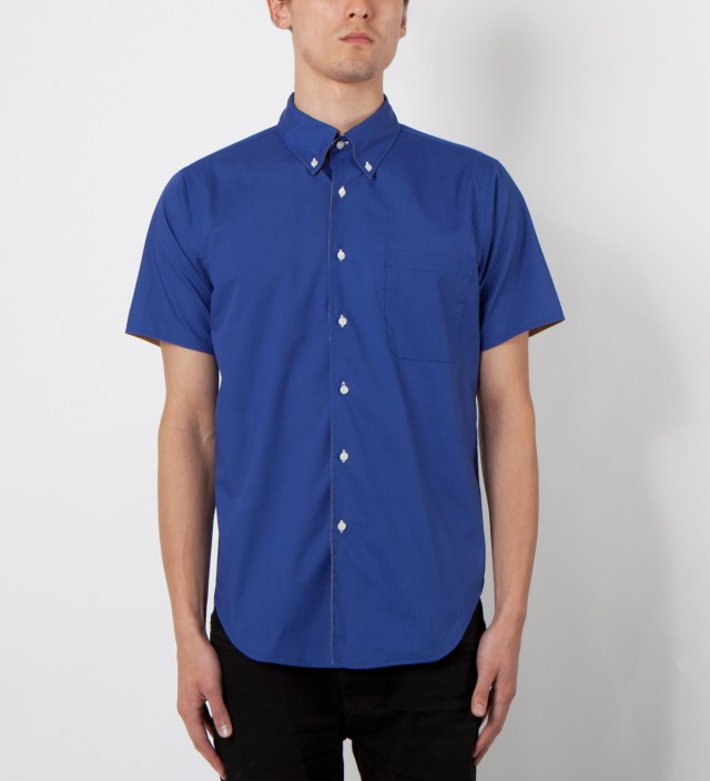Royal/Tan SS Reversible BD Shirt