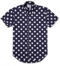 Navy With White Dot SS Big Dot BD Shirt