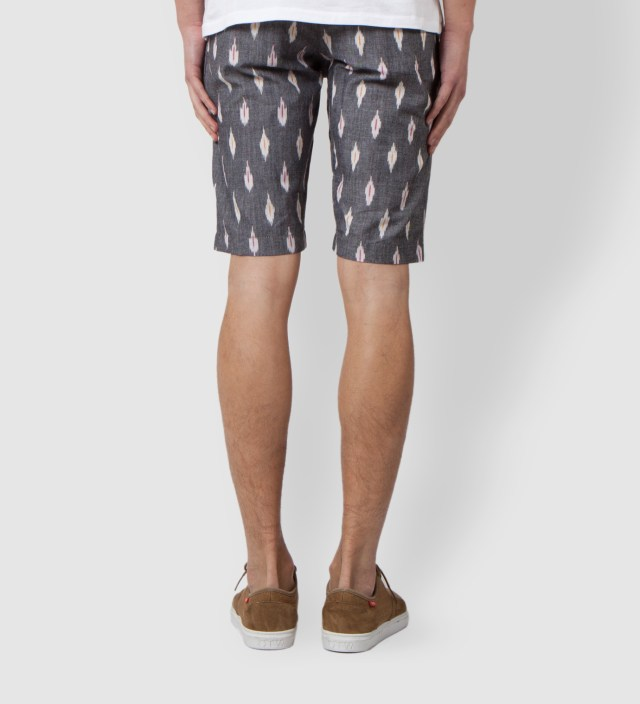 Grey Ikat Chino Short