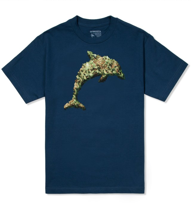 Royal Blue Jasper Dolphin Weed T-Shirt