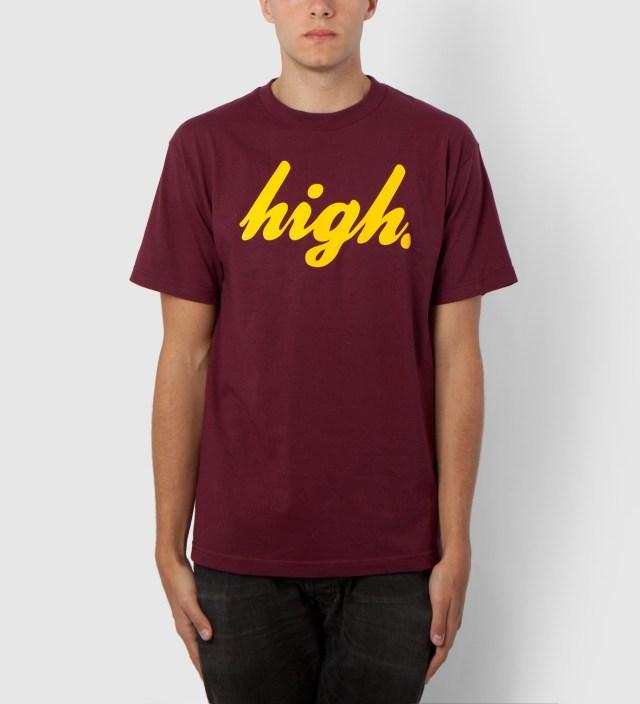 Maroon/Yellow Domo High T-Shirt