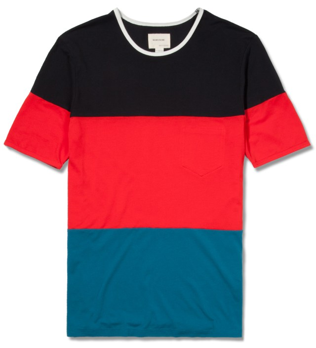 Red Pique Color Blocker T-Shirt