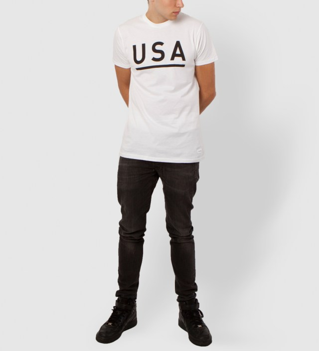 White USA T-Shirt