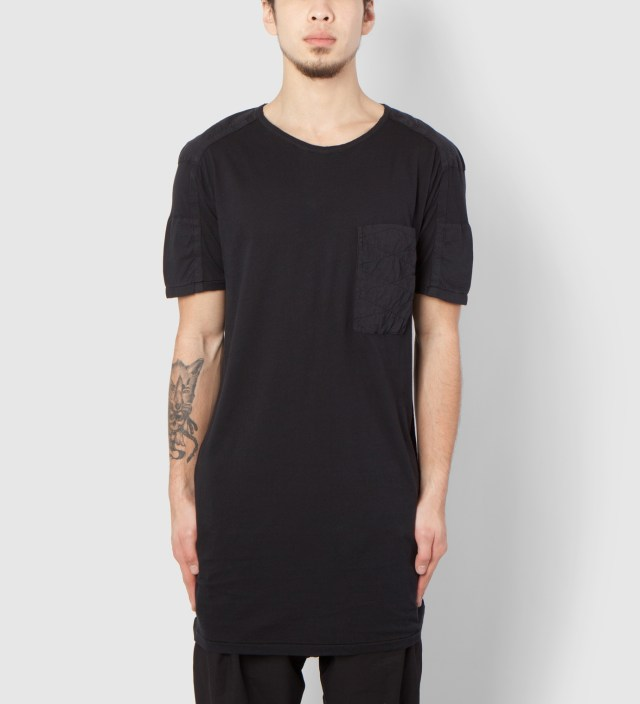 Black Tetro MNS Patchwork T-Shirt