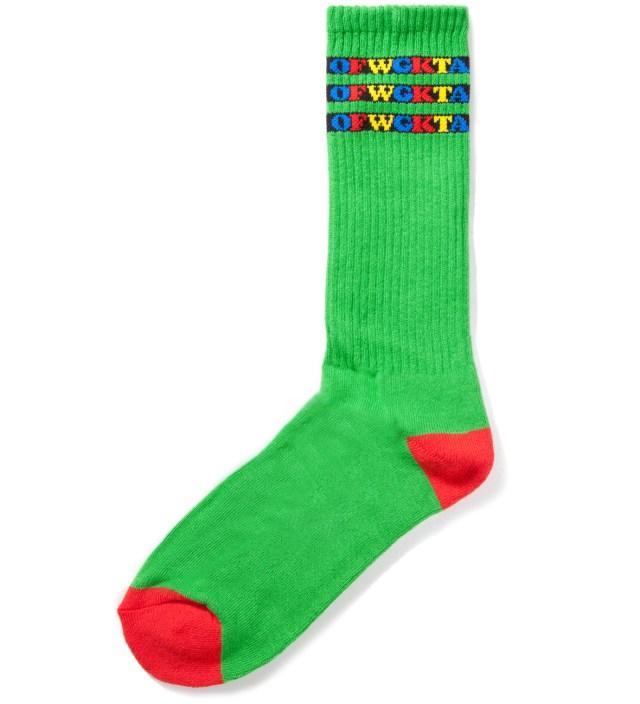 Green OFWGKTA Gradient Kelly Socks
