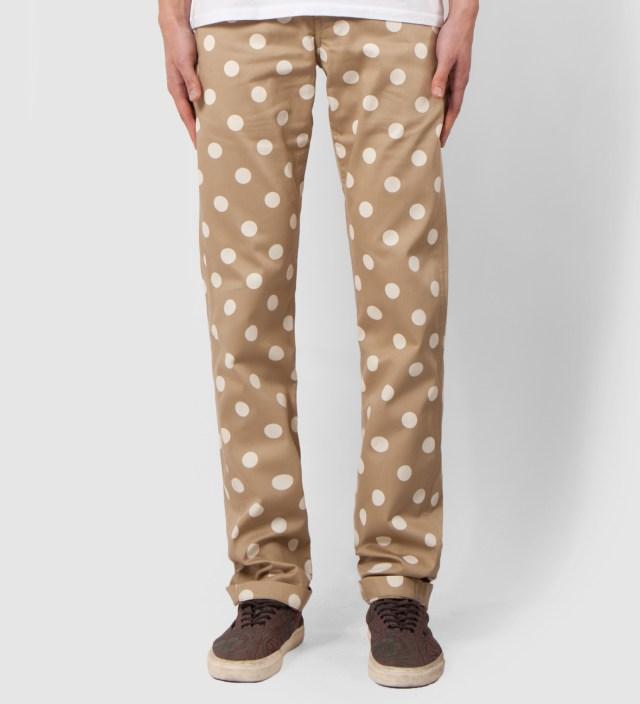 Khaki Dot Chino Pant