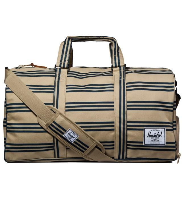 Navy/Khaki Stripe Novel Bag