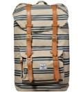 Navy/Khaki Stripe Little America Backpack