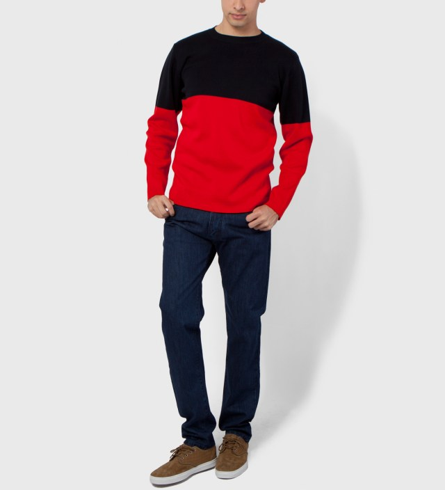 Navy/Red Marni Block 1 Sweater