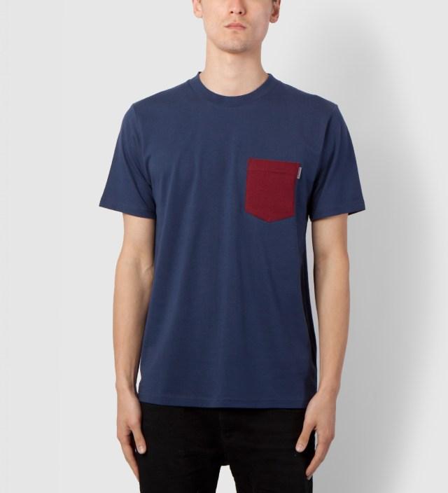Blue/Cranberry Contrast Pocket T-Shirt