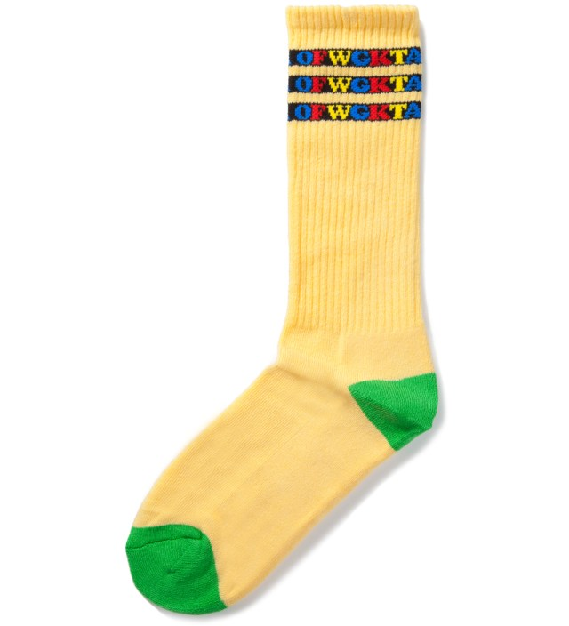 Yellow OFWGKTA Gradient Socks