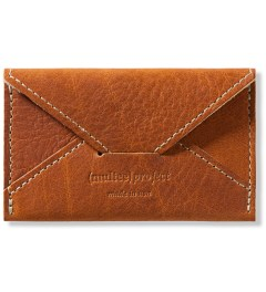 (multee)project Tan Leather Envelope Card Case Picture