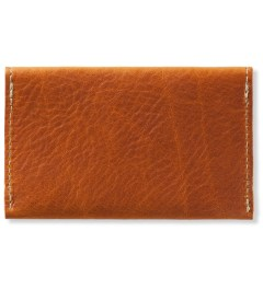 (multee)project Tan Leather Envelope Card Case Model Picture