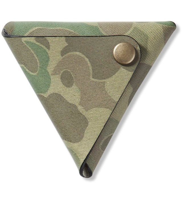 Camo Triangle Leather Coin Case