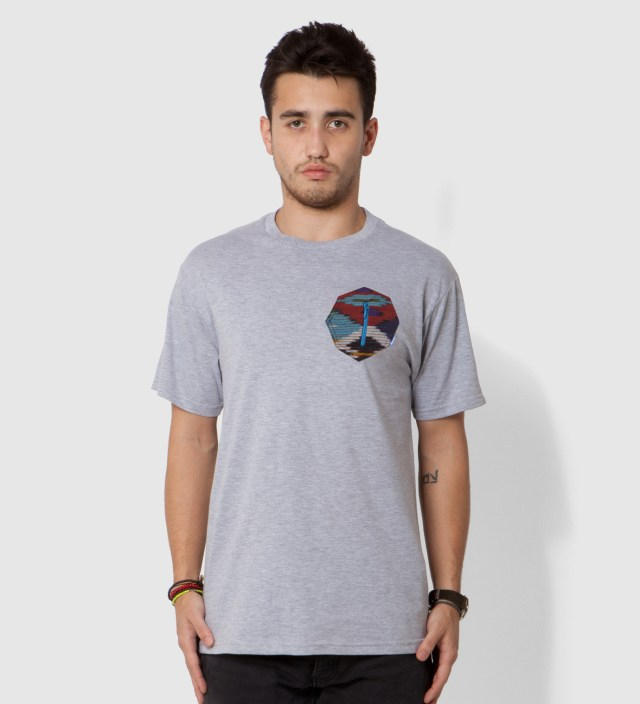 Heather Grey Ikat 8 Sides Pocket T-Shirt
