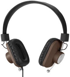 eskuché Brown Control v2: On-Ear Headphone With Apple 3 Button Mic Picture