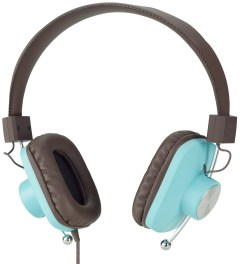 eskuché Baby Blue/Brown Control v2: On-Ear Headphone With Apple 3 Button Mic Picture