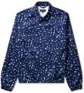 Indigo Leopard-print Preppy Jacket