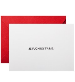 Terrapin Stationers Je Fucking T'aime Mini Cards Picutre
