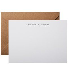 Terrapin Stationers Thanks For All The Shit You Do Note Cards (6 Pack) Picutre