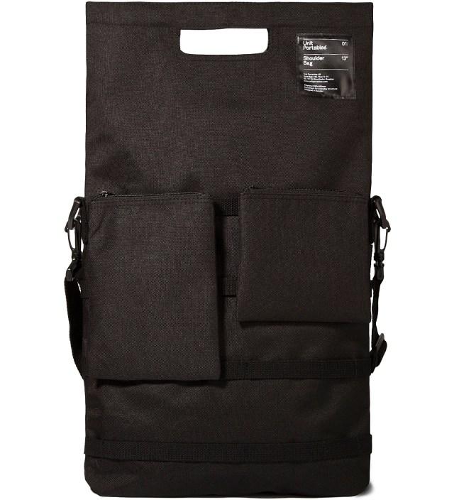 """Black 13"""" Shoulder Bag"""