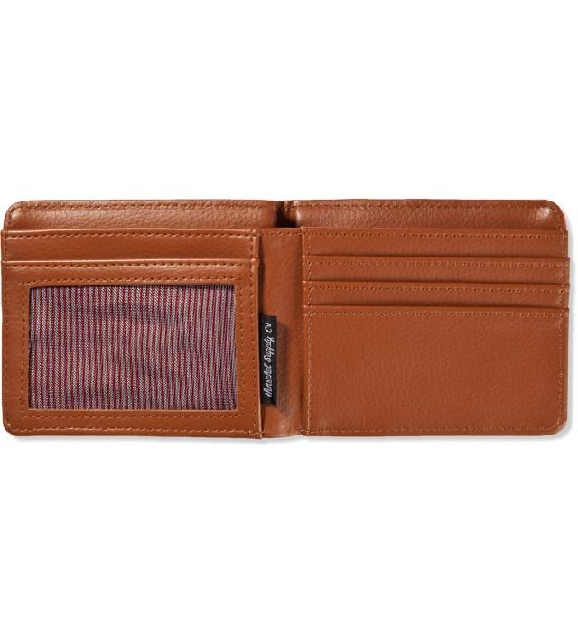 Khaki/Camper Orange Hank Wallet