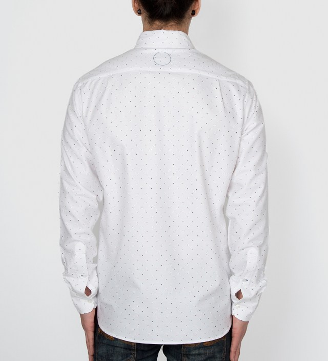 White Japanese Polka Dot Oxford Shirt