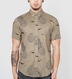 VAINL ARCHIVE Beige Hige & Pine Shirt Model Picutre