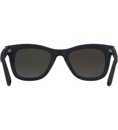 KOMONO Midnight Blue Rubber Allen Sunglasses Model Picutre