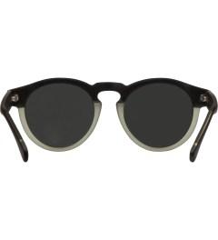 KOMONO Black/Green Clement Sunglasses Model Picutre