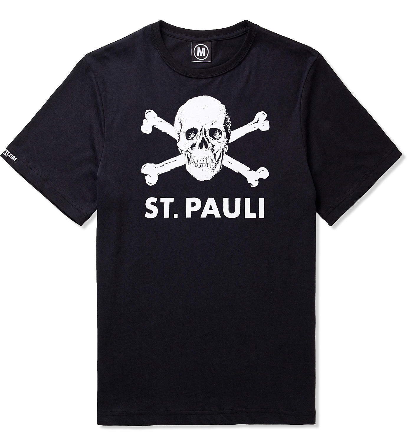 st pauli black large skull logo t shirt hypebeast store. Black Bedroom Furniture Sets. Home Design Ideas