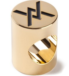 AMBUSH® Gold Thunder Crest Ring Picutre