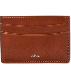 A.P.C. Caramel Card Holder Picutre