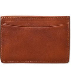 A.P.C. Caramel Card Holder Model Picutre