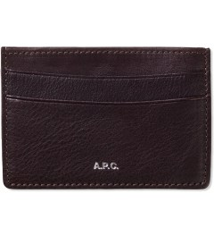 A.P.C. Maroon Card Holder Picture