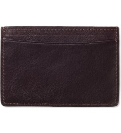A.P.C. Maroon Card Holder Model Picture