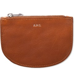 A.P.C. Caramel Half Moon Wallet Picture