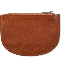 A.P.C. Caramel Half Moon Wallet Model Picture