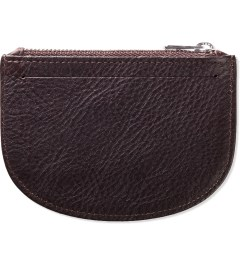 A.P.C. Maroon Half Moon Wallet  Model Picture