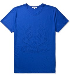 Carven Royal Blue Cerf Antlers Jersey T-Shirt Picutre