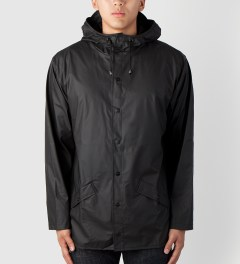 RAINS Black Jacket Model Picutre