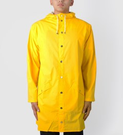 RAINS Yellow Long Jacket Model Picture