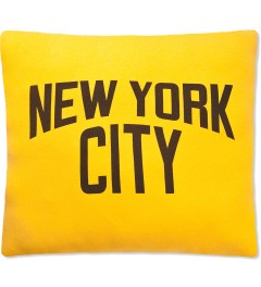 SECOND LAB Yellow New York City Pillow Picture