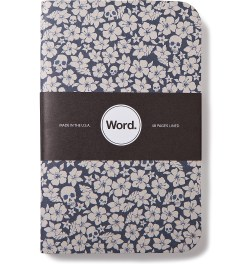 Word. Blue Floral 3 Pack Notebook Picture